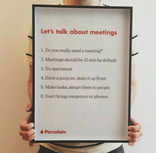 Percolate-meeting-rules